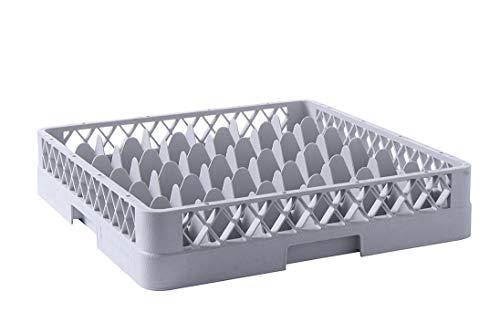 HENDI Cesta de lavavajillas para vasos - 36 compartimentos - 500x500x(H)104 mm