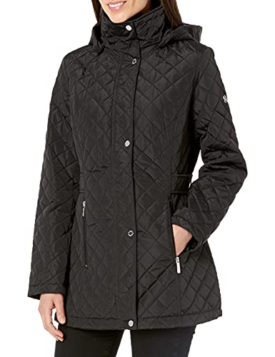 Calvin Klein Women's Classic Quilted Jacket (Regular and Plus Sizes), Black, 0X