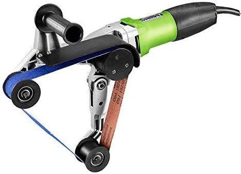 Acero inoxidable 800W Profesional Pipe Tubo Pulidora Sander con óxido de alúmina lijadoras de banda, tubo profesional...