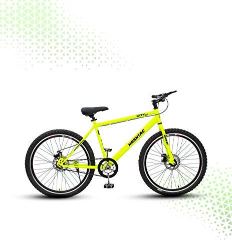Geekay Hashtag Steel 26 Inch Single Speed Mountain Bike - 18\ Frame, Green