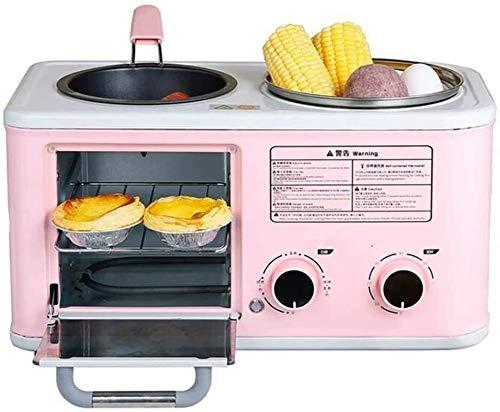 Nologo TLCC Frühstück Maschine 4 in 1, Haushalt Toaster, Toast-Sandwich-Hersteller, Toaster, PP Material, Zeitautomatik, Geeignet for Gedämpfte Eier, heißen Topf, Kochen xjdmg