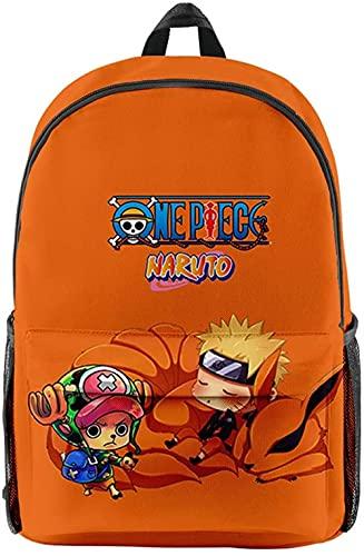 wikkeny One Piece Aneime Mochila 3D Luffy Zoro Ace Law Cosplay Bolsa de la Escuela Casual Laptop Daypack Bolso Bolsa de la Escuela Viajes Rucks Mochila para niñas Adolescentes-Tony Tony Chopper