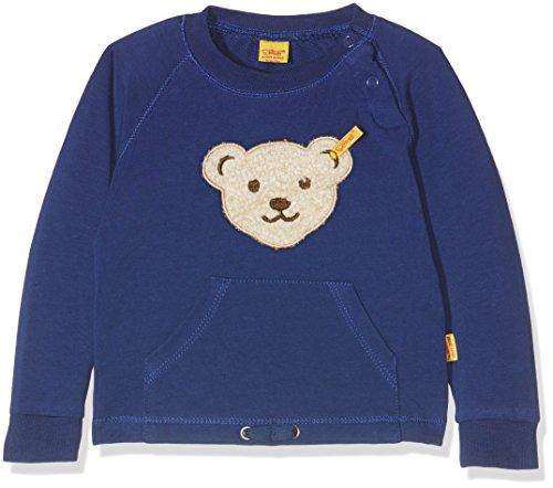 Steiff Sweatshirt 1/1 Arm 6712763 Sweat-Shirt, Bleu (Blueprint 3029), 9 Mois Bébé garçon