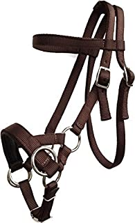 Nylon Side Pull Bitless Horse Bridle With Padded Non-slip Noseband