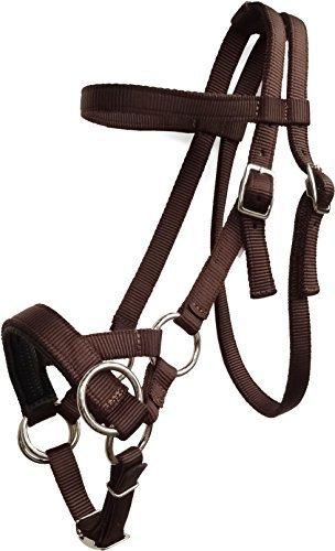 Nylon Side Pull Bitless Horse Bridle With Padded Non-slip Noseband