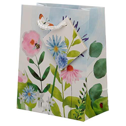 EliteKoopers - Bolsa de regalo pequeña con diseño de jardines botánicos para regalo de Navidad