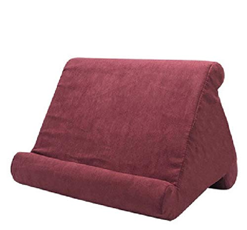 XINYA BAO Tablet holder laptop cushion tablet cushion. Multi-angle knee stand with soft cushion for iPad, tablet, e-book reader, smartphone, books and magazines. 8 colours (red wine).
