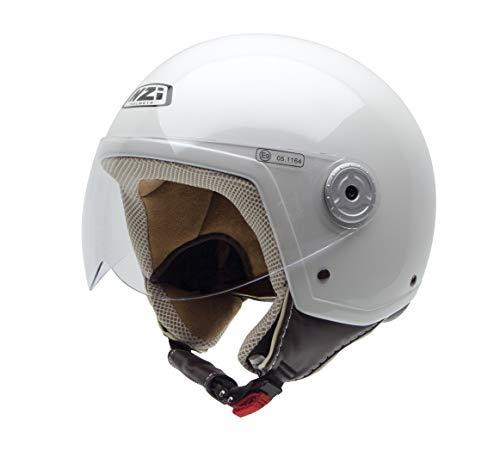 NZI Vintage II Motorradhelm, Weiß, 59