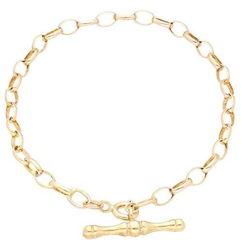 Jollys Jewellers Pulsera Belcher de oro amarillo de 9 quilates de 7 pulgadas (3 mm de ancho y 21 mm de largo)
