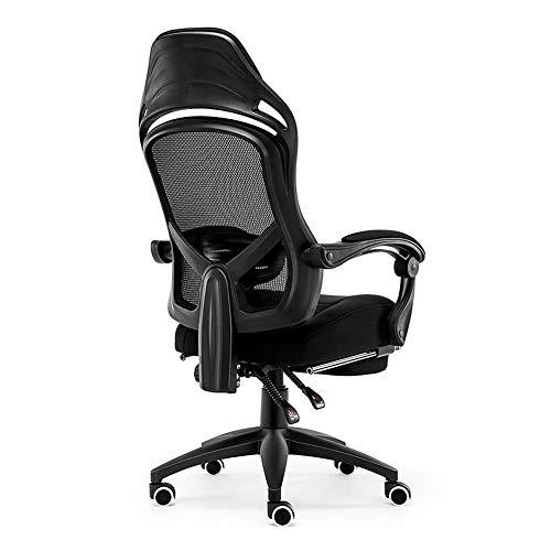 GaoF Chaise de Bureau, Chaise d'ordinateur Chaise de Jeu exécutif, Main Courante de Liaison en Maille Respirante, Plateau antidéflagrant épais, Roue en polyuréthane - Noir
