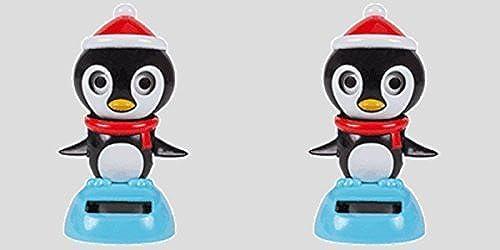 Solar Powerouge Dancing & Blinking Penguin (Set of 2) by vertbrier