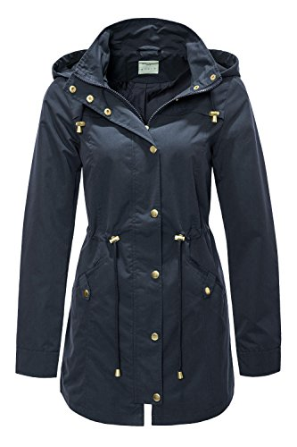 VERO MODA Damen VMPERNILLE 3/4 Parka A Mantel, Blau (Navy Blazer), 36 (Herstellergröße: S)