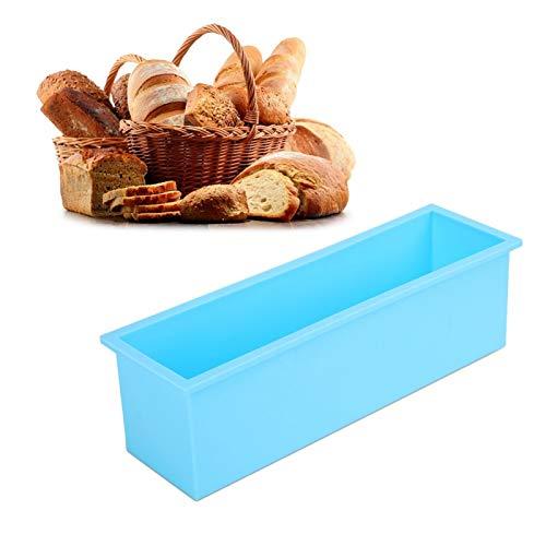 Molde de jabón de silicona rectangular para tienda de postres para jabón(Sky blue)