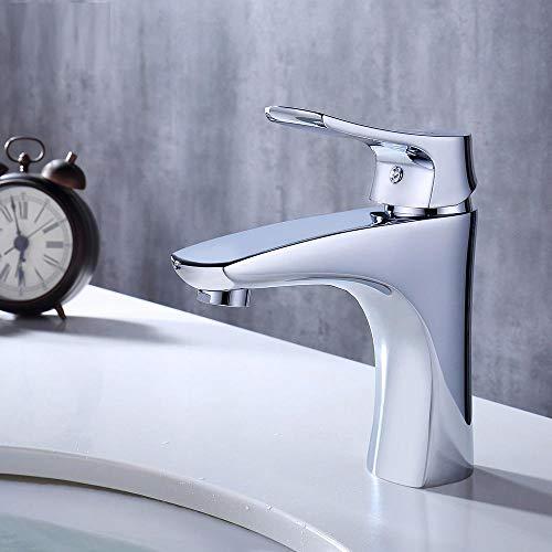 Grifo para fregadero de cocina, grifo de lavabo cascada, grifo de baño de latón cromado, grifo de baño con un solo mango