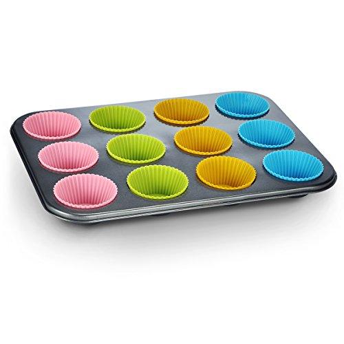 Für 12 Muffin Backform mit Silikonförmchen