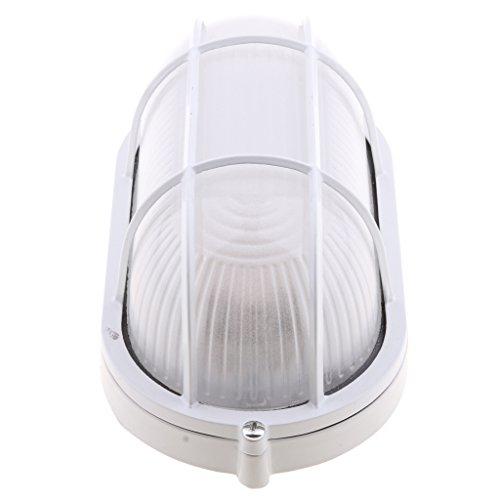 F Fityle Saunalampe Saunaleuchte Saunalicht Blendschirm Saunazubehör Sauna Lampe Leuchte mit Metallschutz - Oval