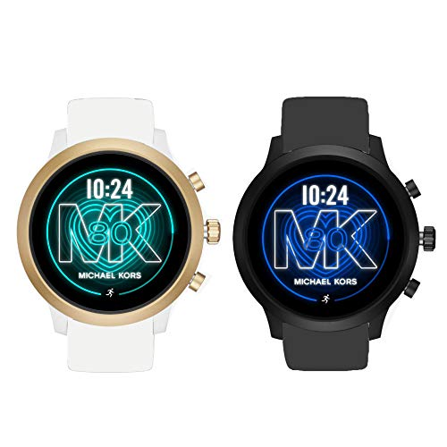 Compatible for Michael Kors MKGO Bands, Blueshaw Sport Silicone Replacement Strap for Compatible for Michael Kors Access MKGO Smartwatch (2 Pack-a)