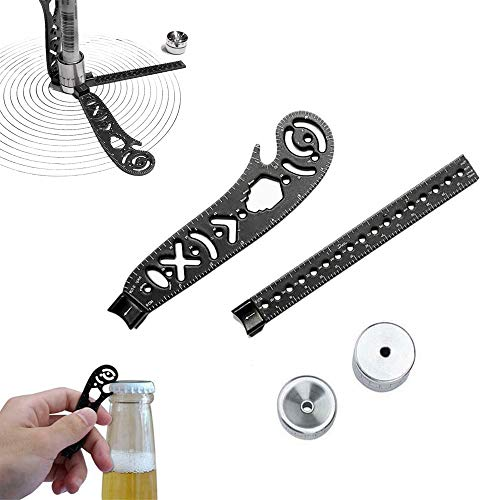 Drawing Tool Multi-Function Versatile Drawing Curved Magnetic Ruler Mini Compass and Protractor,for Notepad Designers Artists Architects