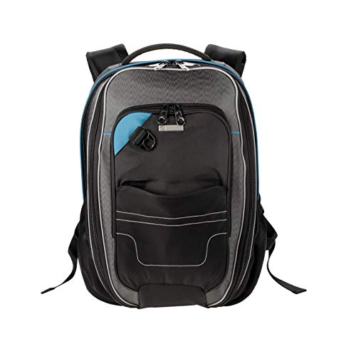 Lewis N. Clark Underseat Carry-on Backpack + RFID Protection System Anti-Theft, Black, One Size
