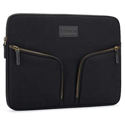 LONMEN 13-13.3 Zoll Wasserdicht Laptop Sleeve Hülle Tasche Laptophülle Notebook mit Handgriff für 13
