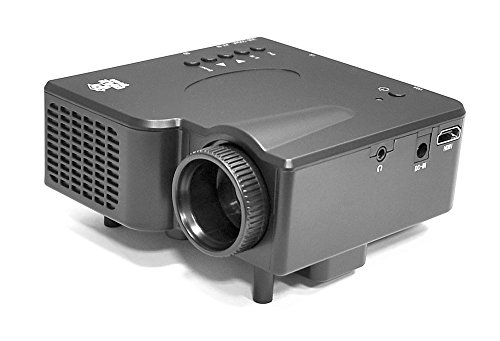 1080p Multimedia Gaming Mini Projector - Full HD Portable Video Cinema Home Theater Projector w/ Built-in Stereo Speaker, HDMI, USB, Adjustable Picture Projection for TV, PC, Computer - Pyle PRJG45_0