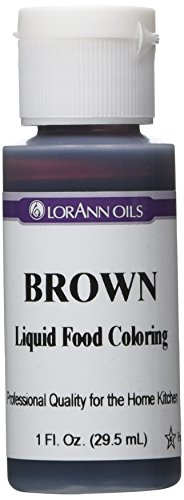 Lorann Oils Liquid Food Color 1Ounce Brown
