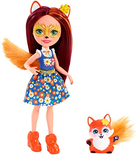 Enchantimals FXM71 Felicity Fox Puppe, mehrfarbig