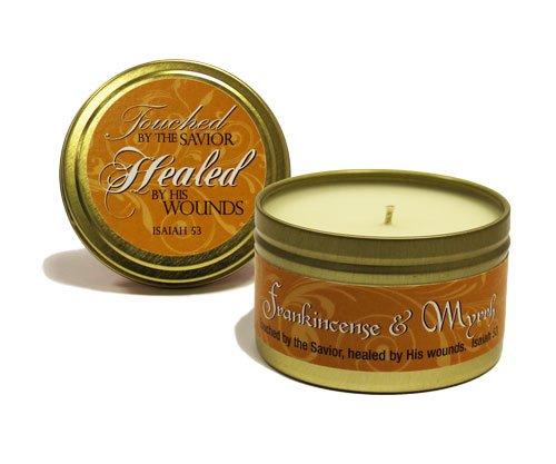 ABBA Candle-Frankincense & Myrrh Scripture Tin-8oz