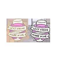 赤ワイングラスブローチレディースブローチピンクワイングラスブローチ女性ジュエリージャケット帽子、ブラックワードスタイリッシュで人気品質がよい