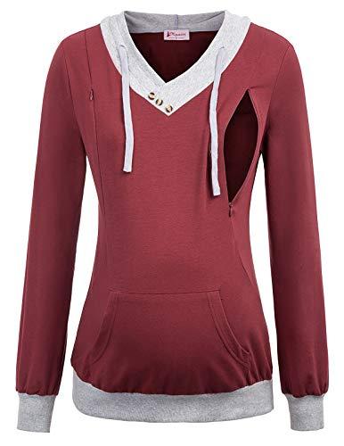 Maacie Schwangere Langarm Umstandskleidung Sweatshirt S MC1114-2