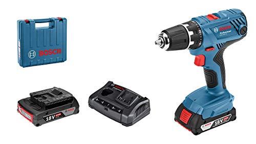 Bosch Professional 06019H100A 18V System-Trapano Avvitatore GSR 18V-21 (Max. Momento torcente: 55 NM, con 2 batterie da 2,0 Ah, Caricatore Gal 18 V-20, Custodia L), mit 2X 2.0 Akkus + Ladegerät