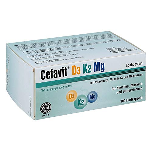 Cefavit D3 K2 Mg Hartkapseln, 100 St