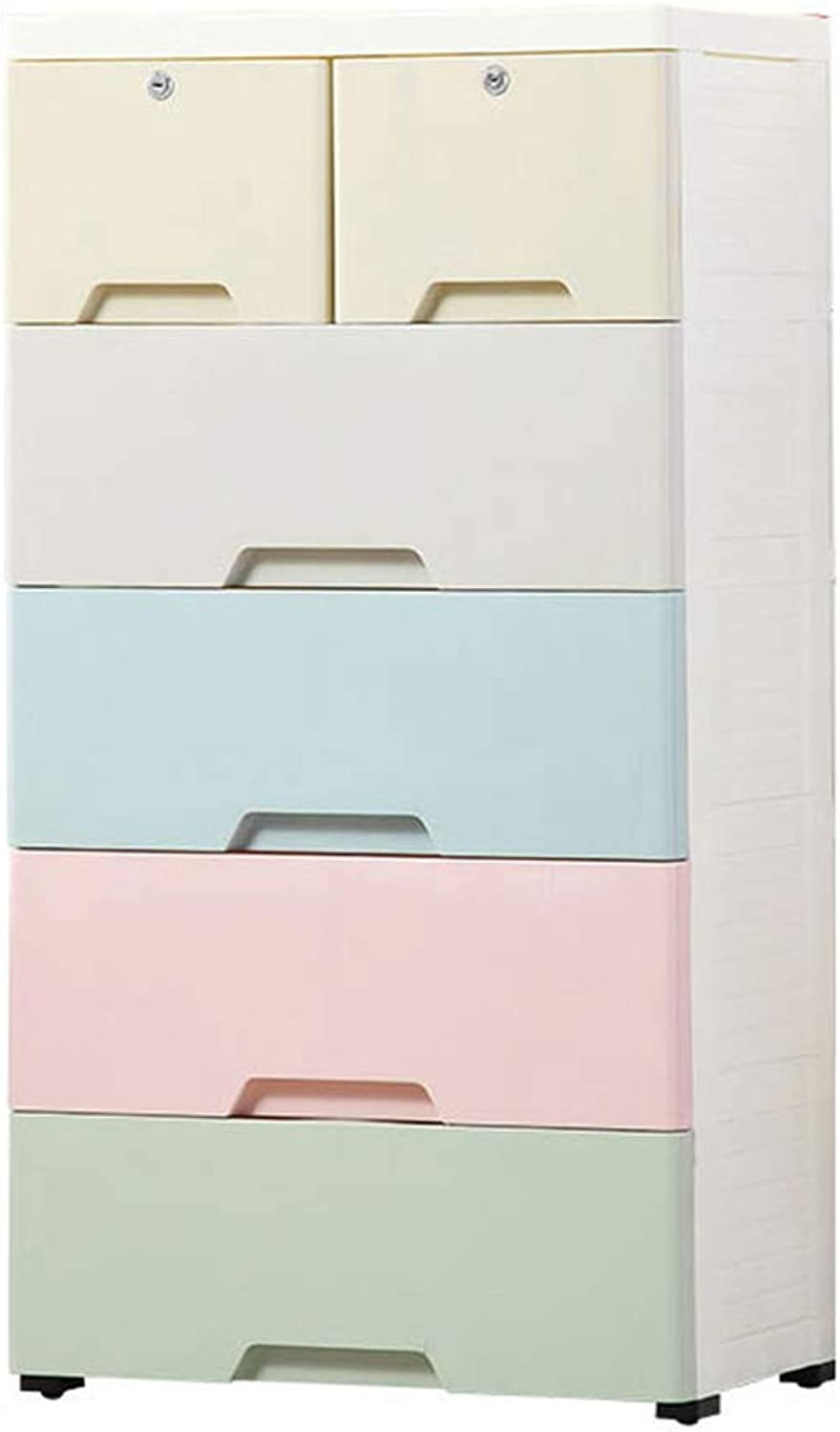 Baby Wardrobe, Plastic Toy Clothing Finishing Cabinet Bathroom Toiletries Chest of Drawers Storage Box, 58  40  112CM (color    6)