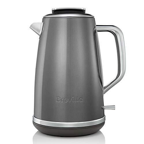 Breville Lustra Electric Kettle, 1.7 Litre, 3 KW Fast Boil, Storm Grey [VKT065]