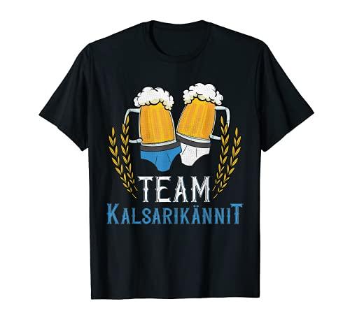Team Kalsarikännit - Vaso de cerveza divertido Camiseta