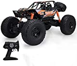 4WD a distancia Camión de control 1/10 de la escala oversize RC 2,4 GHz Radio Controlled escalada en orugas Buggy for niños adultos Sorpresa regalo de Navidad (color: naranja, tamaño: battery*1)