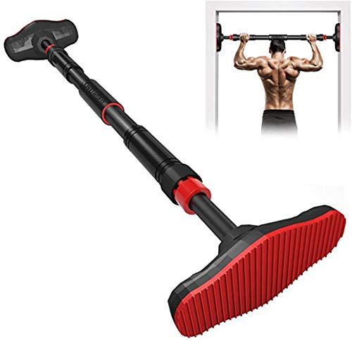XUDREZ - Barra per trazioni e trazioni, regolabile, ideale per flessioni, mentoni e braccia, esercizi per le spalle, fino a 180 kg, Unisex - Adulto, Rosso, 65-100cm