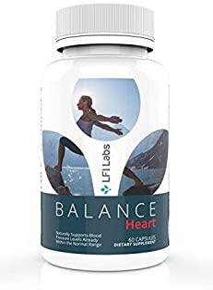 LFI Labs Heart Health Blood Pressure Supplement with Natural Herbs, B-Complex, Vitamin C, Folic Acid, & More — Balance Heart