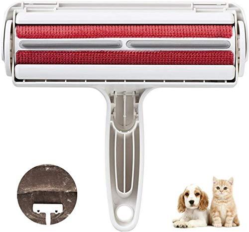 BTkviseQat Fusselbürste Fusselrolle für Hundehaare Katzenhaare, FusselrolleTierhaar fusselroller Tierhaarentferner Wiederverwendbar für Möbel, Couch,Teppich,Bettwäsche und mehr