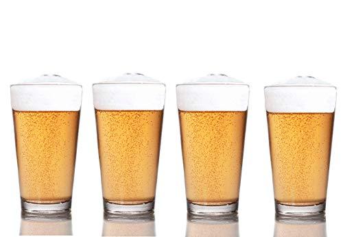 Vasos de cerveza Fizz Glassware de 473 ml | Donde la ciencia se une al sabor | Una mejor experiencia de cerveza | Fabricado en Estados Unidos