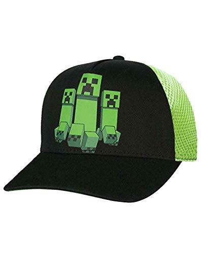 Minecraft Creeper Mesh Hat Baseballmütze für Jungen (S-M)