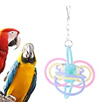 Solome 鳥オウムケージペンダントデコレーションハンギングウォームカラーシリコンボールは咀嚼のおもちゃをかみます