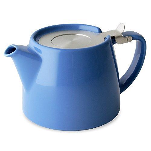 FORLIFE Forlife Design - Tetera con tapa SLS e infusor, 18 onzas, color azul