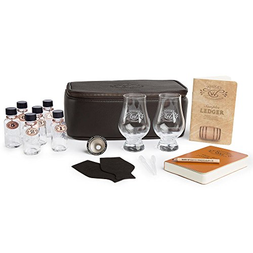 Whisky Connoisseur Deluxe Leather Whisky Travel Kit. Never Leave A Good Whisky Behind.