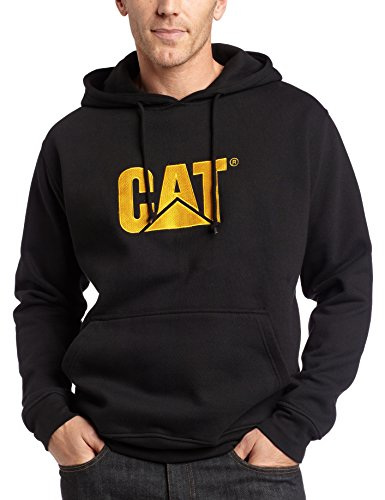 Caterpillar Herren Trademark Hooded Sweatshirt - Schwarz - Large