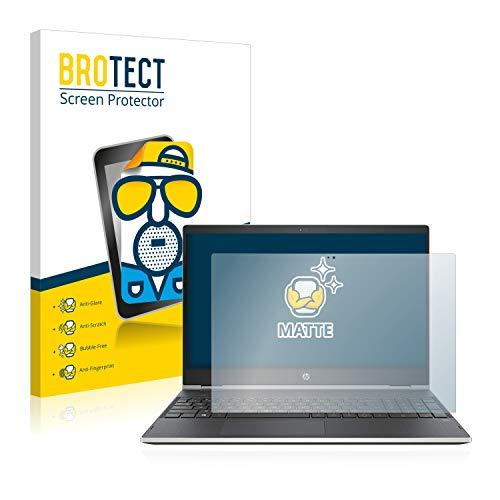 BROTECT Entspiegelungs-Schutzfolie kompatibel mit HP Pavilion x360 15 cr0003ng Bildschirmschutz-Folie Matt, Anti-Reflex, Anti-Fingerprint