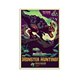 HUAIREN Monster Hunter-Poster mit antikem Wald, Videospiel,
