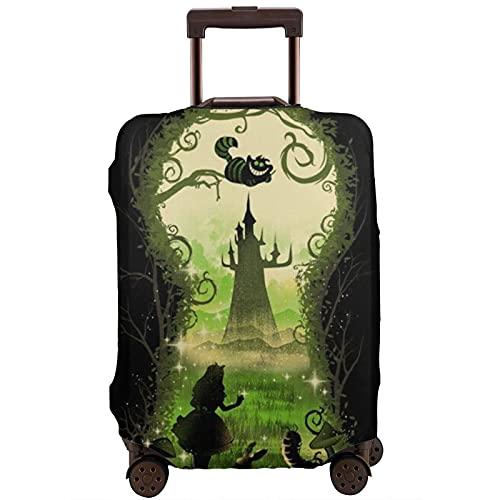 Alicia en el país de las maravillas - Protector de maleta de viaje resistente a los arañazos, a prueba de polvo, elástico y flexible, White (Blanco) - 364519536