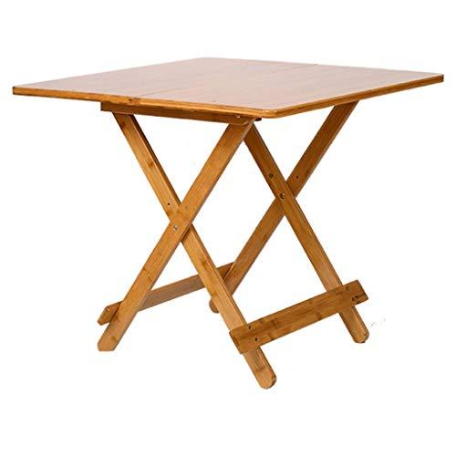 YShop Table Pliante carrée, Petite Table Basse côté Bois Bistro for terrasse Salon de Jardin Table à Manger Chambre Bureau (Size : 70cm)