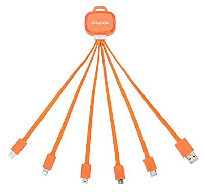 Chafon Latest Multi 6 in 1 USB Portable Charger Cable-Orange